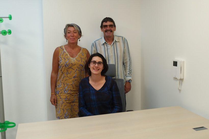 Geneviève Mangi-Paya, diététicienne-nutritionniste, entourée de Valérie Ponsar et Sylvain Garand