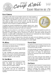 P'tit Coup d'Oeil #10 – Mai 2019