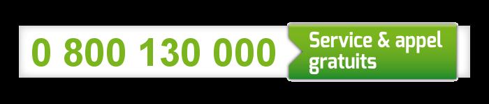 Numéro vert national COVID-19 : 0 800 130 000