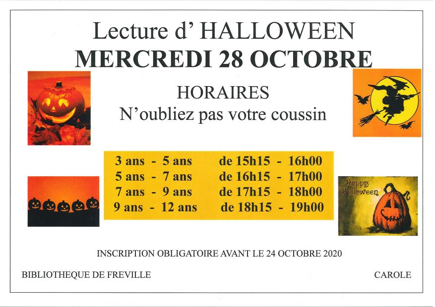 Bibliothèque de Saint Martin de l'If - Lecture d'Halloween